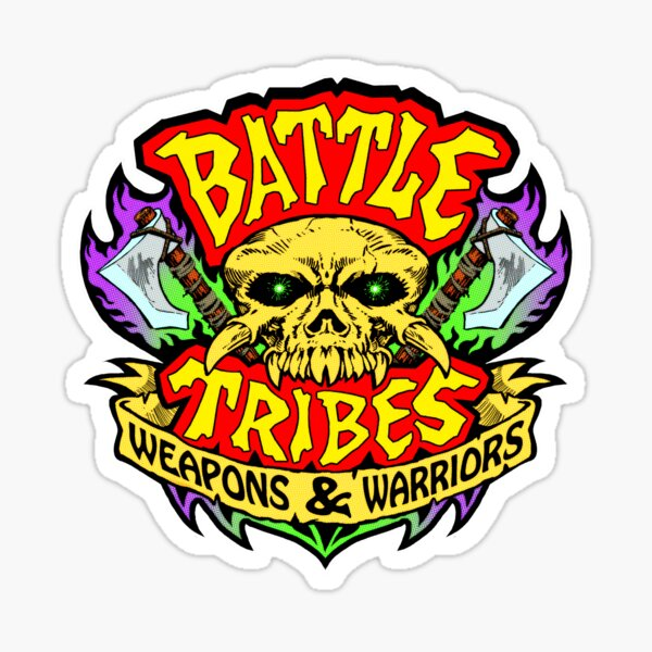 Battle Tribes Skull Logo Sticker