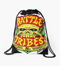 Battle Tribes Skull Logo Drawstring Bag