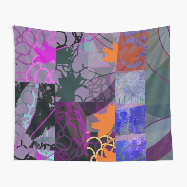 Organic Geometry Abstract Art Design Tapestry
