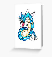 Gyarados watercolor Greeting Card