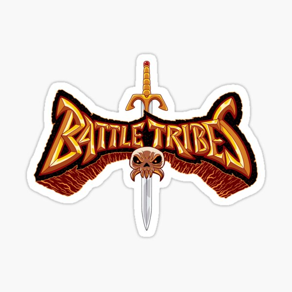 Battle Tribes Sword Logo  Sticker