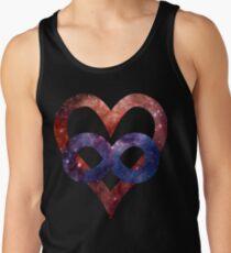 Space Love [Tarantula Nebula] | Polyamory Logo 2.0 | Team Poly Official Shirt Tank Top