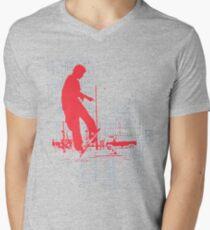 tech god Mens V-Neck T-Shirt