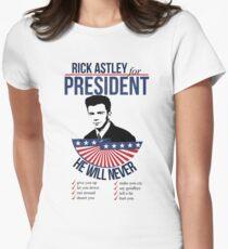 Rick Astley para presidente Camiseta entallada