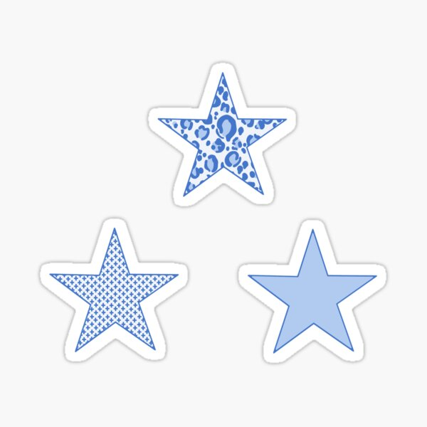 Blue Stars Sticker