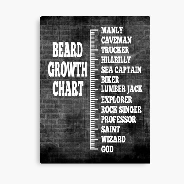 Beard Growth Chart Canvas Print