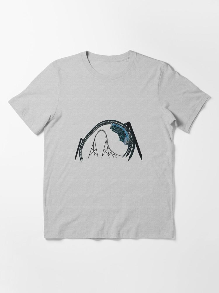 Alternate view of Velociraptor Rollercoaster Essential T-Shirt