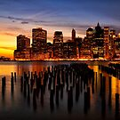 New York Skyline Sunset by KellyHeaton