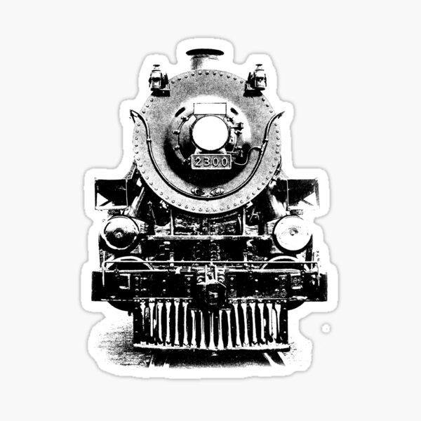 Vintage steam train illustration Sticker