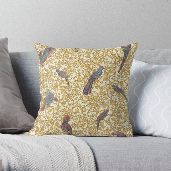 barocco bird Throw Pillow