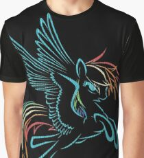Rainbow Dash Abstract 3 Graphic T-Shirt