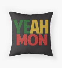 Yeah Mon! Jamaican Slang Throw Pillow