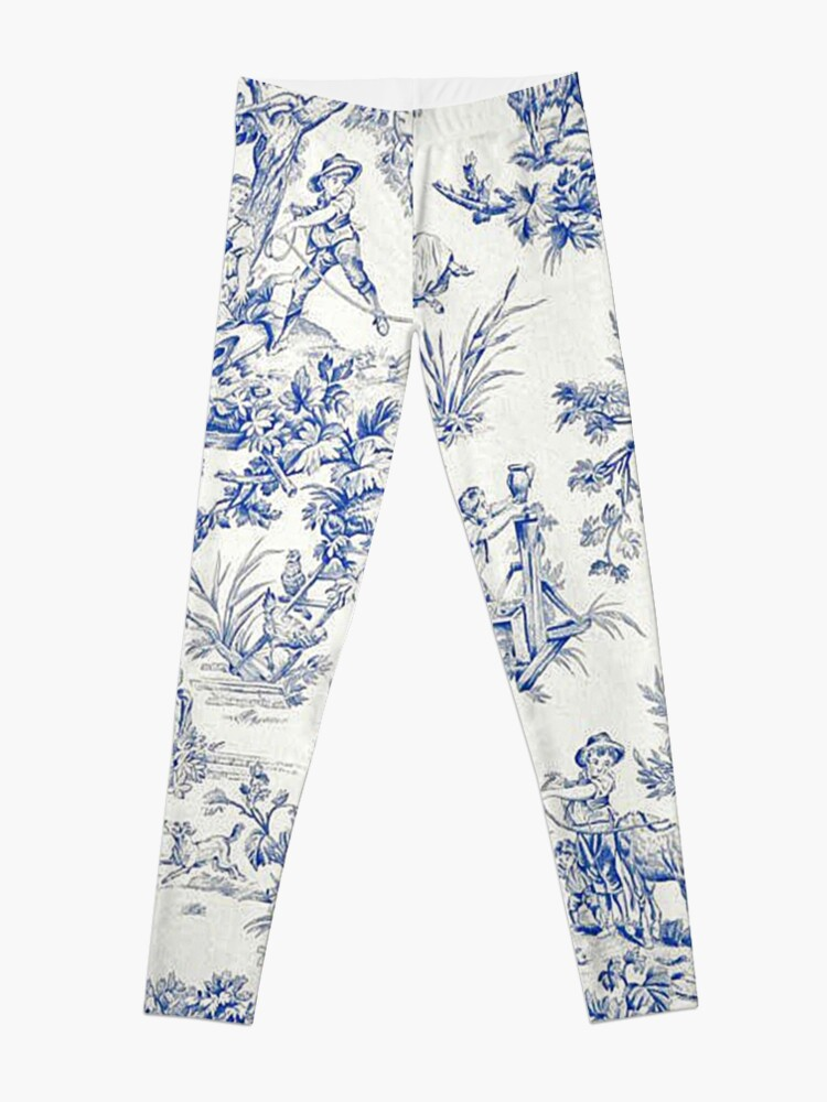 Alternate view of Beautiful Blue French Toile Leggings