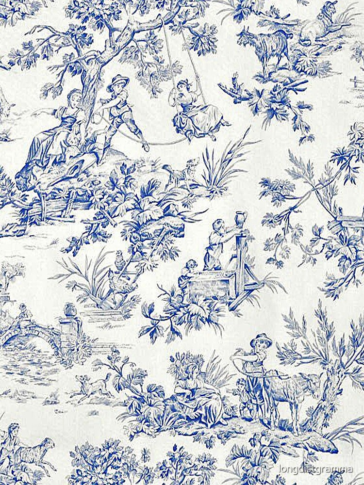Beautiful Blue French Toile by longdistgramma