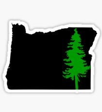 Oregon Green Tree Sticker
