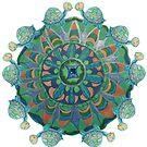 Baby Turtle Mandala by MizMeliz