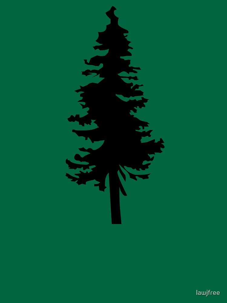 Plain Black Tree | Doug Fir/Pine/Evergreen by lawjfree