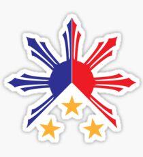 Stammes- Philippinen Filipino Sun und Sterne Flagge Sticker
