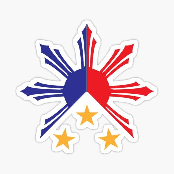 Tribal Philippines Filipino Sun and Stars Flag Sticker