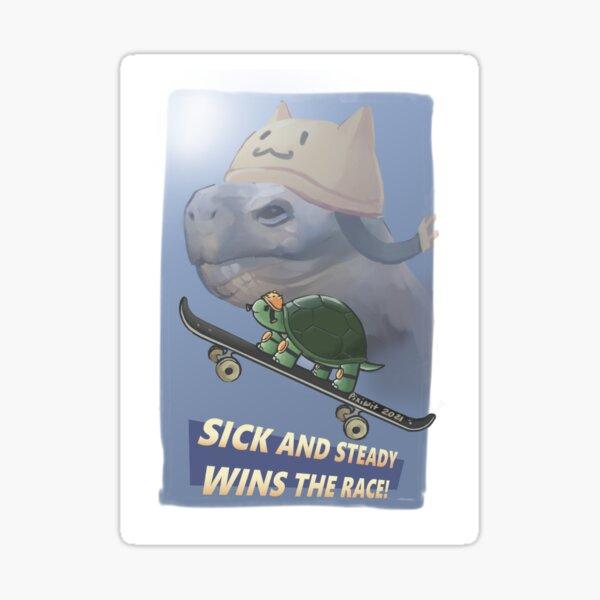 Turtle go fast Sticker