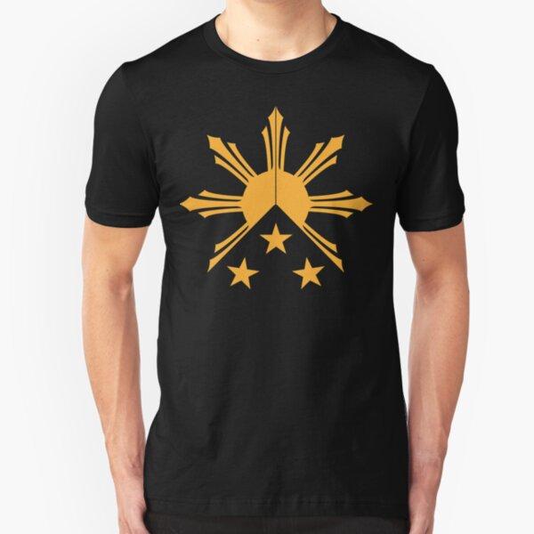 Tribal Philippines Filipino Sun and Stars Flag Slim Fit T-Shirt