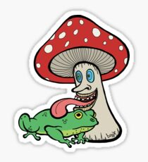 Psychedelick (Mushroom Licking Toad) Sticker