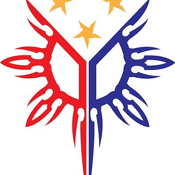 Tribal Philippines Filipino Sun and Stars Flag by airealapparel