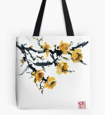 Yellow plum tree Tote Bag