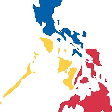 Philippines Filipino Map Sun and Stars Flag by airealapparel