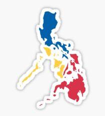 Philippinen Philippinische Karte Sonne und Sterne Flagge Sticker