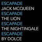 ESCAPADE by DOLCE - Blue and white text pattern by dolcewrites