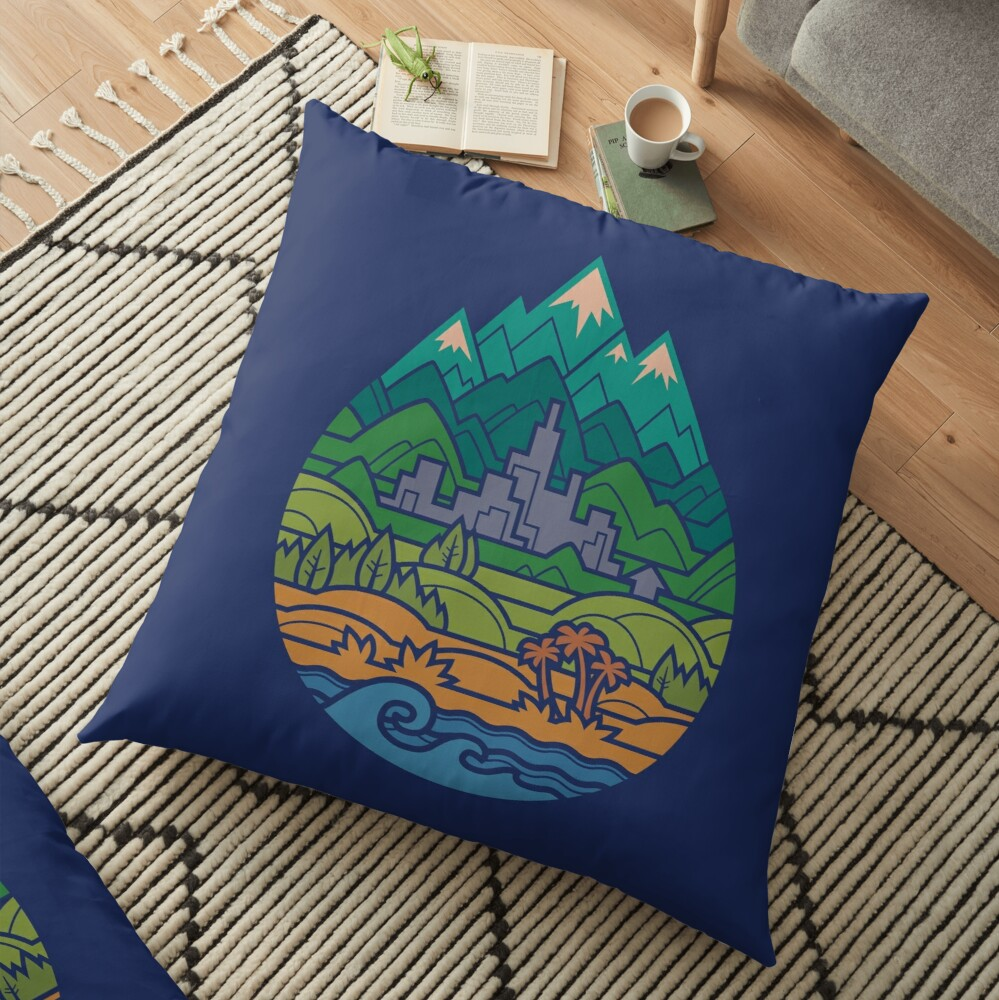 Small World 2 Floor Pillow