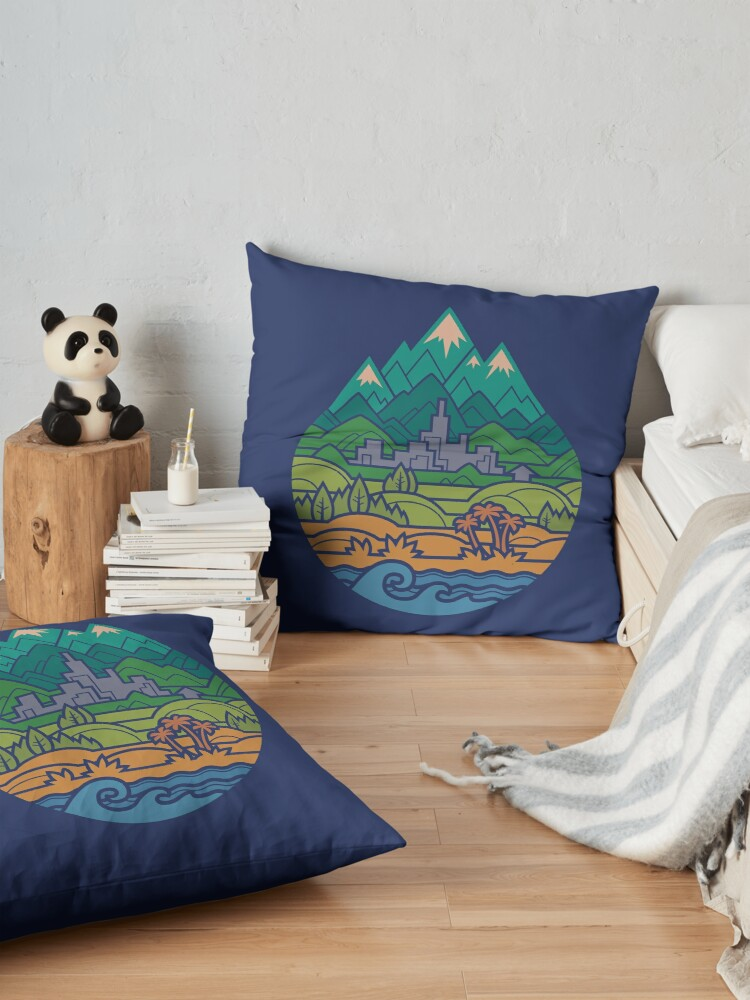 Alternate view of Small World 2 Floor Pillow