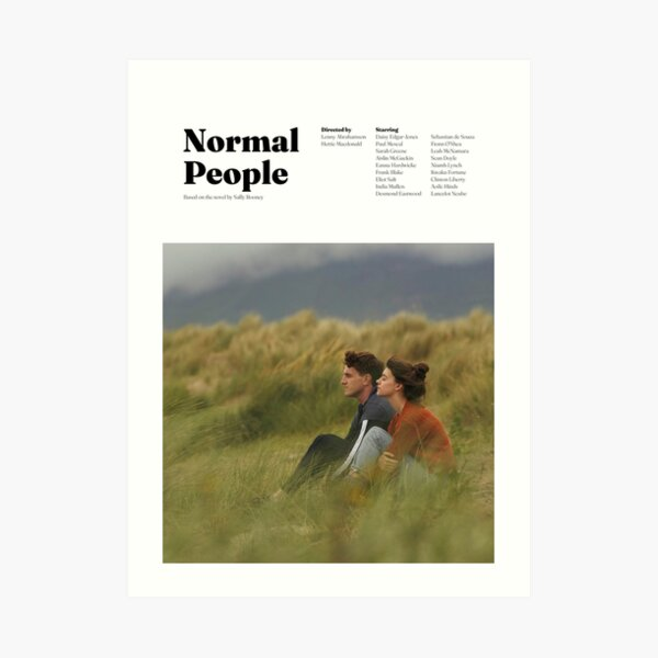 Diseño minimalista de personas normales Lámina artística