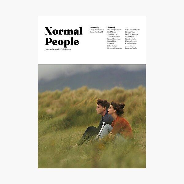 Diseño minimalista de personas normales Lámina fotográfica