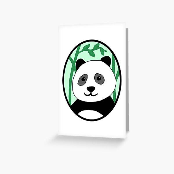 Panda with bamboo sticks Greeting Card