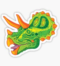Triceratops (lime) Sticker