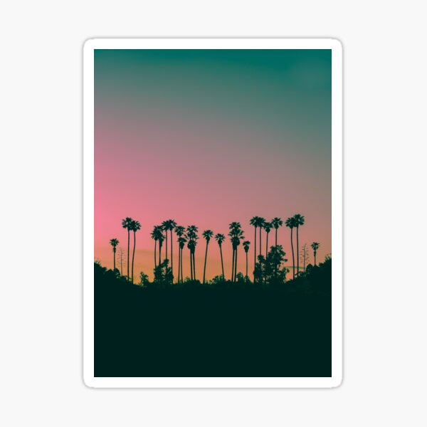 Colorful Sunset at the Hill Sticker