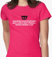 Woman's Best Friend Cat Funny Quote Womens Fitted T-Shirt