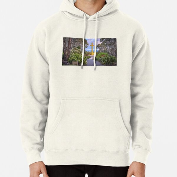 The Memorial Cross and the Snow Gums on Mount Macedon Pullover Hoodie