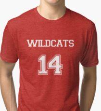 WILDCATS TROY BOLTON HIGH SCHOOL MUSICAL Tri-blend T-Shirt