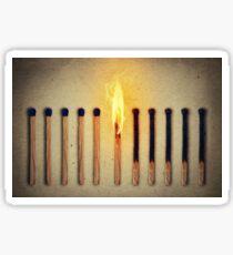 burning alone Sticker