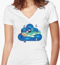 Mid-Life Crisis No.2 Women's Fitted V-Neck T-Shirt