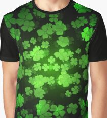 St Patricks day green background Graphic T-Shirt