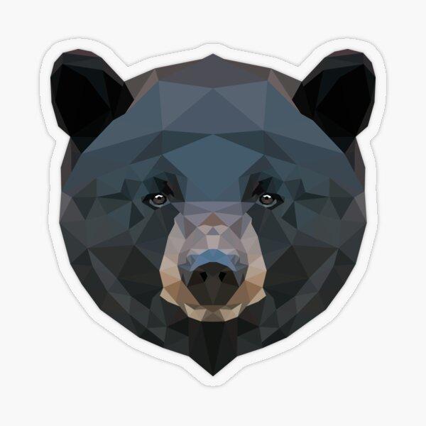 Black Bear Transparent Sticker