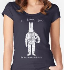 To the moon and back Women's Fitted Scoop T-Shirt