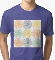 Colored fruit slices pattern Tri-blend T-Shirt