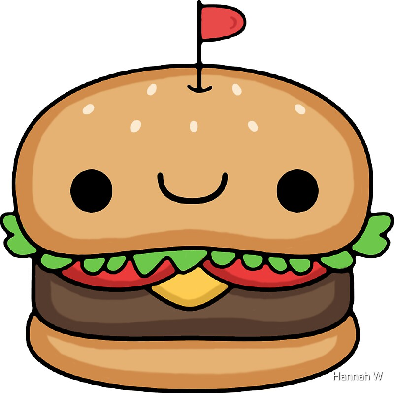 Quot Kawaii Burger Quot Stickers By Hannah Woolgar Redbubble