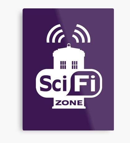 Sci-Fi ZONE White Metal Print