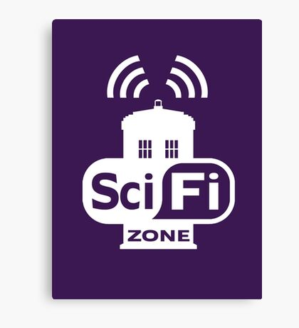 Sci-Fi ZONE White Canvas Print